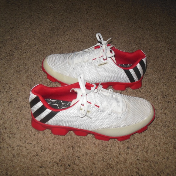 Adidas zapatos hombre  blanco rojo golf tenis 12 poshmark